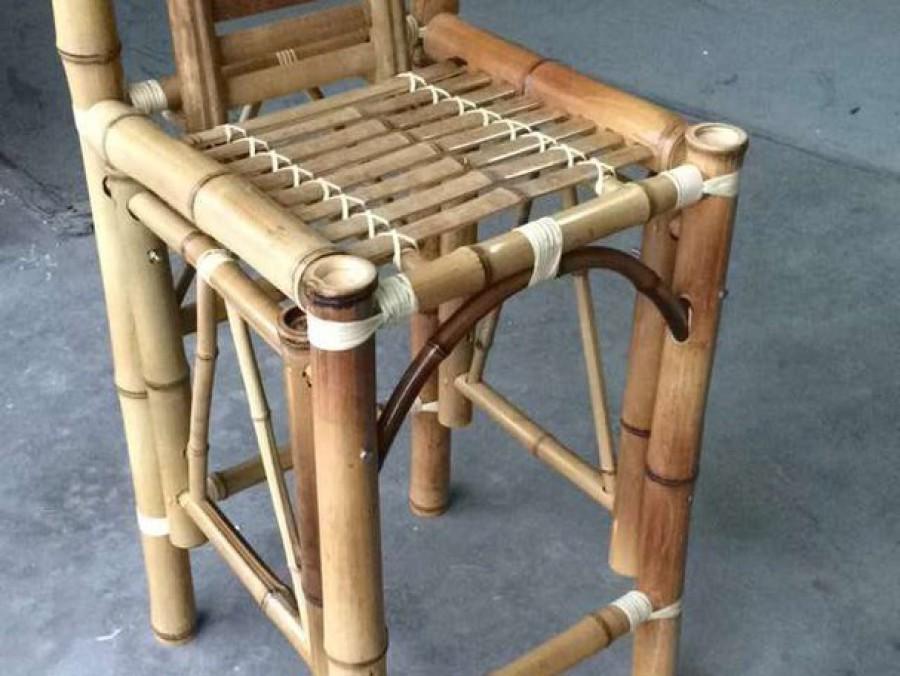 Bamboo Tiki Bar Stool